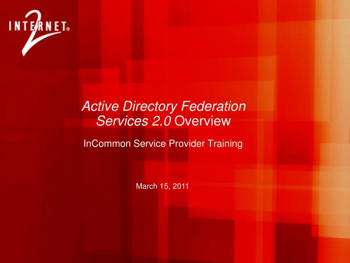 active directory federation services 2 0 overview n.