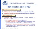 der investors point of view
