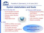 system stakeholders and goals