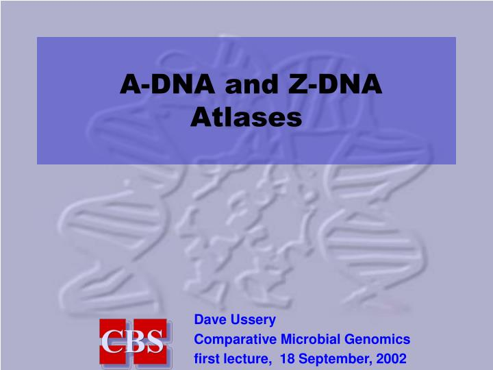 a dna and z dna atlases n.
