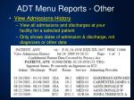 adt menu reports other3