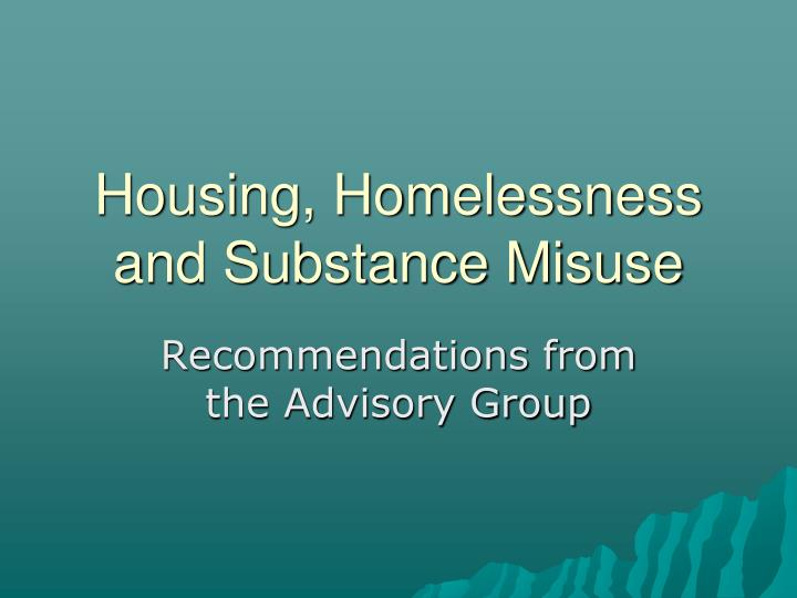 recommendations from the advisory group n.