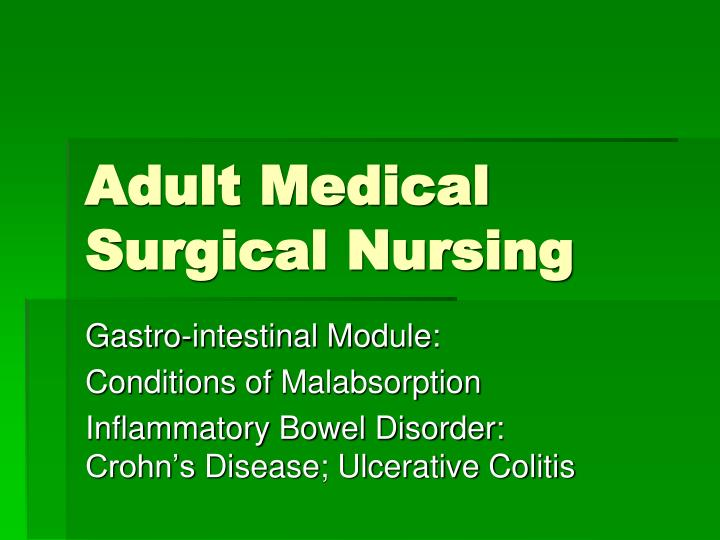 adult medical surgical nursing n.