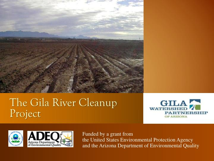 the gila river cleanup project n.