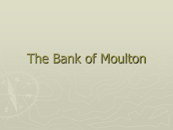 the bank of moulton n.