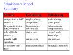 sakakibara s model summary