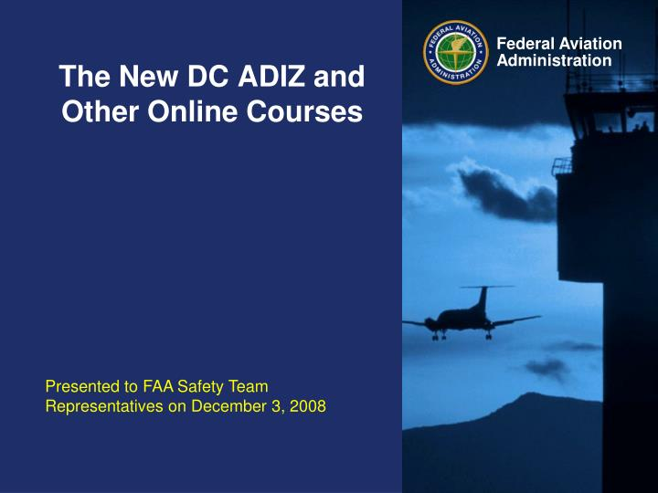 the new dc adiz and other online courses n.