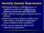 anxiety versus depression