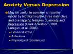 anxiety versus depression1