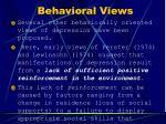 behavioral views