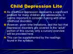 child depression lite