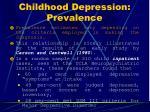 childhood depression prevalence