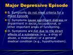 major depressive episode2