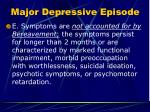 major depressive episode3