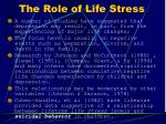 the role of life stress