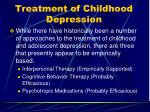 treatment of childhood depression