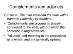 complements and adjuncts