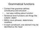 grammatical functions