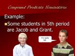 compound predicate nominatives