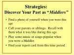 strategies discover your past as middlers