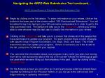 navigating the arpd web submission tool continued