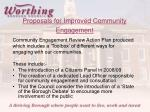 proposals for improved community engagement