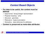 context based objects