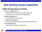 data handling system capabilities