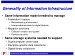 generality of information infrastructure