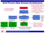 grid forum data access architecture