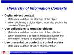 hierarchy of information contexts