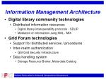 information management architecture