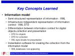 key concepts learned
