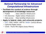 national partnership for advanced computational infrastructure