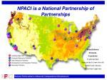 npaci is a national partnership of partnerships
