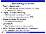 technology sources