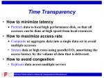 time transparency