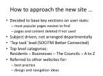 how to approach the new site