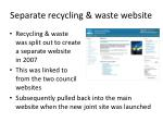 separate recycling waste website