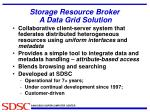 storage resource broker a data grid solution