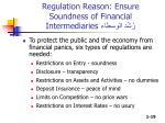 regulation reason ensure soundness of financial intermediaries1