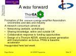 a way forward