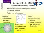 ffag accelerators fixed field alternating gradient