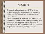 avoid i