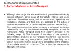 mechanisms of drug absorption 1 carrier mediated or active transport