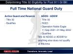 determining title 32 eligibility for post 911 gi bill