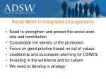 social work in integrated arrangements