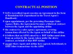 contractual position