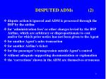 disputed adms 2