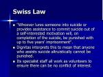 swiss law